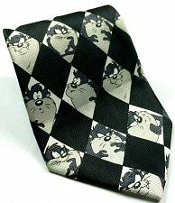 Buy Looney Tunes Taz Expressions Black White Diamonds Novelty Polyester Tie