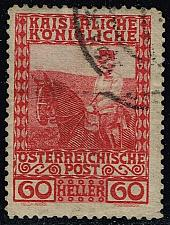 Buy Austria #122 Franz Josef on Horseback; Used (0.25) (1Stars) |AUT0122-12XBC