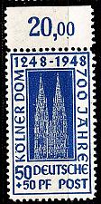 Buy GERMANY Alliiert AmBri [1948] MiNr 0072 ZA ( **/mnh )