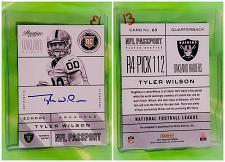 Buy NFL Tyler Wilson Oakland Raiders Autographed 2013 Panini Prestige RC #23 Mnt