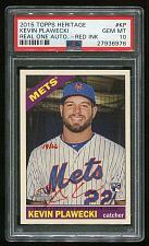 Buy 2015 TOPPS HERITAGE REAL ONE RED AUTO KEVIN PLAWECKI PSA 10 GEM MINT (27936976)