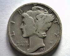 Buy 1931 MERCURY DIME FINE F NICE ORIGINAL COIN FROM BOBS COINS FAST SHIPMENT