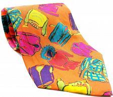 Buy Gap Clothing Parka Jacket Suit Coat Vest Men's Novelty Orange Silk Tie