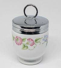 Buy VINTAGE ROYAL WORCESTER ENGLAND PORCELAIN EGG CODDLER & LID 3'' FLOWERS C622