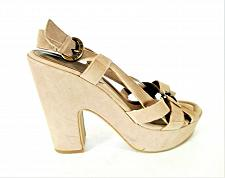 Buy G by Guess Beige Chunky Platform Slingback Sandals Shoes Women's 10 (SW13)