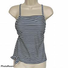Buy NWT Kona Sol Womens Side Tie Tankini Swim Top Small Padded Blue White Striped