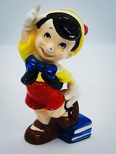 "Buy Vintage 1980's WALT DISNEY's PINOCCHIO 5"" hand Painted Ceramic Figurine Nice"
