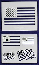 """Buy Mylar 2 Pieces of 14 Mil 8"""" X 10"""" Us Flag Stencils- Painting /Crafts/ Templates"""