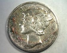Buy 1939-S MERCURY DIME ABOUT UNCIRCULATED AU SUPER ATTRACTIVE TONING NICE ORIGINAL