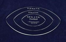 Buy Nested Football Template 1/4 Inch Acrylic