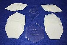 "Buy Mylar 4"" Hexagon (Side to Side Measurement) & 4"" 60 Degree Diamond 102 Piece Set"