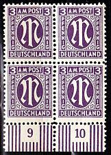 Buy GERMANY Alliiert AmBri [1945] MiNr 0017 a C ( **/mnh ) [01] 4er