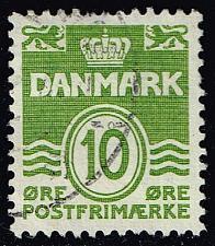Buy Denmark #318 Numeral; Used (0.25) (3Stars) |DEN0318-09