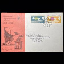 Buy Hong Kong 1965 International Telecommunication Union 2 Stamp Set On FDC