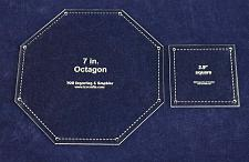"""Buy Matching Square/Octagon Set Templates. 7"""". - Clear 1/8"""""""