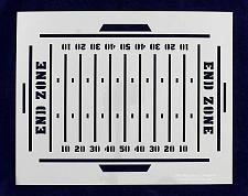 Buy Football Field Stencil-14 Mil Painting/Crafts/ Templates