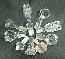 Buy Vintage Bottle Stopper ONE Cut Glass Lead Crystal Frosted Decanter Perfume