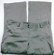 Buy Lane Bryant Women's Dress Pants Size 3 Gray Herringbone Flare Leg Stretch