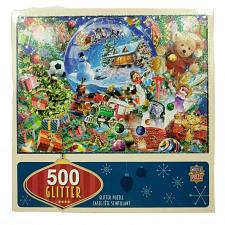Buy MasterPieces 500 Piece Glitter Puzzle Snow Globe Dreams Christmas Complete
