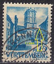 Buy GERMANY Alliiert Franz. Zone [Württemberg] MiNr 0011 vv I ( O/used )