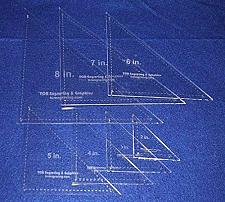 Buy Triangle Quilting Templates 7 Piece Set W/seam and Guideline Holes 2 - 8 Inches