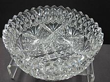 Buy American Brilliant Period hand Cut Glass bowl