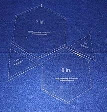 """Buy Hexagons 6"""" & 7"""" & Equilateral Triangles to match, 4 pc set- 1/8"""" Thick"""