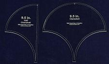"""Buy Clamshell Templates. 2 Piece Set 9.5 Inches -Full & Half - Clear Acrylic 1/8"""""""