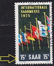 Buy GERMANY Saar [1955] MiNr 0359 PF IV ( O/used ) Plattenfehler