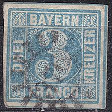 Buy GERMANY Bayern Bavaria [1850] MiNr 0002 II ( O/used ) [04]