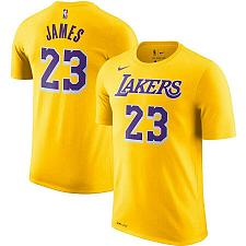 Buy LeBron James Los Angeles Lakers Nike T-Shirt Name Number 23 Fast Free Ship