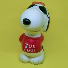 "Buy VINTAGE 1970S PEANUTS SNOOPY JOE COOL 4"" SQUEEZABLE DISPLAY PIECE COOL"