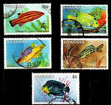 Buy BAHAMAS [1986] MiNr 0618 ex ( O/used ) [01] Fische