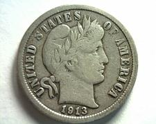 Buy 1913 BARBER DIME VERY FINE VF NICE ORIGINAL COIN FROM BOBS COINS FAST SHIPMENT