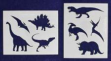 """Buy Dinosaur Stencils -Mylar 2 Pieces of 14 Mil 8"""" X 10""""- Painting /Crafts/ Template"""
