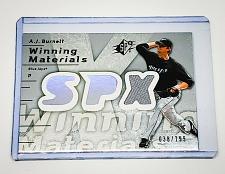 Buy MLB AJ BURNETT TAMPA BAY RAYS 2007 UD SPX GAME-WORN JERSEY /199 MINT