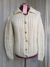 Buy Vintage Fishermans Cable Knit Wool Hand Knit Sweater Cardigan Womens Size S