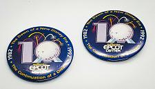 "Buy WALT DISNEY'S EPCOT CENTER 10-YEAR ANNIVERSARY 2.5"" COLLECTORS PINBACK LOT"