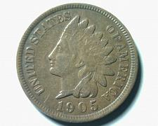 Buy 1905 INDIAN CENT PENNY ABOUT UNCIRCULATED AU NICE ORIGINAL COIN FROM BOBS COINS