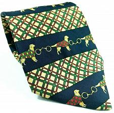 Buy Tommy Hilfiger Dog Canine Tartan Plaid Links Blue Green Red Silk Novelty Tie