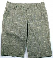 Buy DKNY Jeans Women's Walking Shorts Size 12 Plaid Brown Cuffed Stretch
