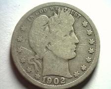 Buy 1902 BARBER QUARTER DOLLAR VERY GOOD+ VG+ NICE ORIGINAL COIN BOBS COIN FAST SHIP