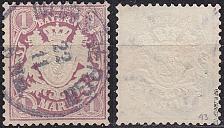 Buy GERMANY Bayern Bavaria [1876] MiNr 0043 ( O/used ) [01]