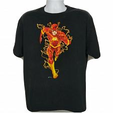 Buy DC Comics The Flash Lightning Superhero T-Shirt XL Short Sleeve Black
