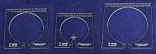 """Buy 3 Piece Inside Circle Set-B- w/rulers ~1/4"""" Thick - Long Arm- For 1/2"""" Foot"""