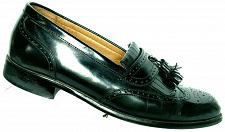Buy Bostonian First Flex Men's Black Leather Wingtip Tassel Loafer Shoe 7.5 M