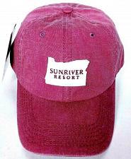 Buy NWT Sunriver Resort Oregon Golf Men's Red Baseball Strapback Hat Adjustable
