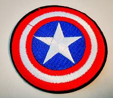 "Buy CAPTAIN AMERICA SHIELD EMBROIDERED IRON ON 3"" LOGO PATCH COOL"
