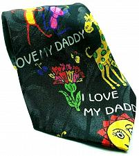Buy Fathers Day I Love My Daddy Flowers Balloons Polyester Novelty Tie