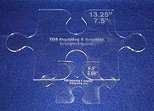 """Buy 2 Piece Small & Large Puzzle Template Set - Clear ~1/4"""""""